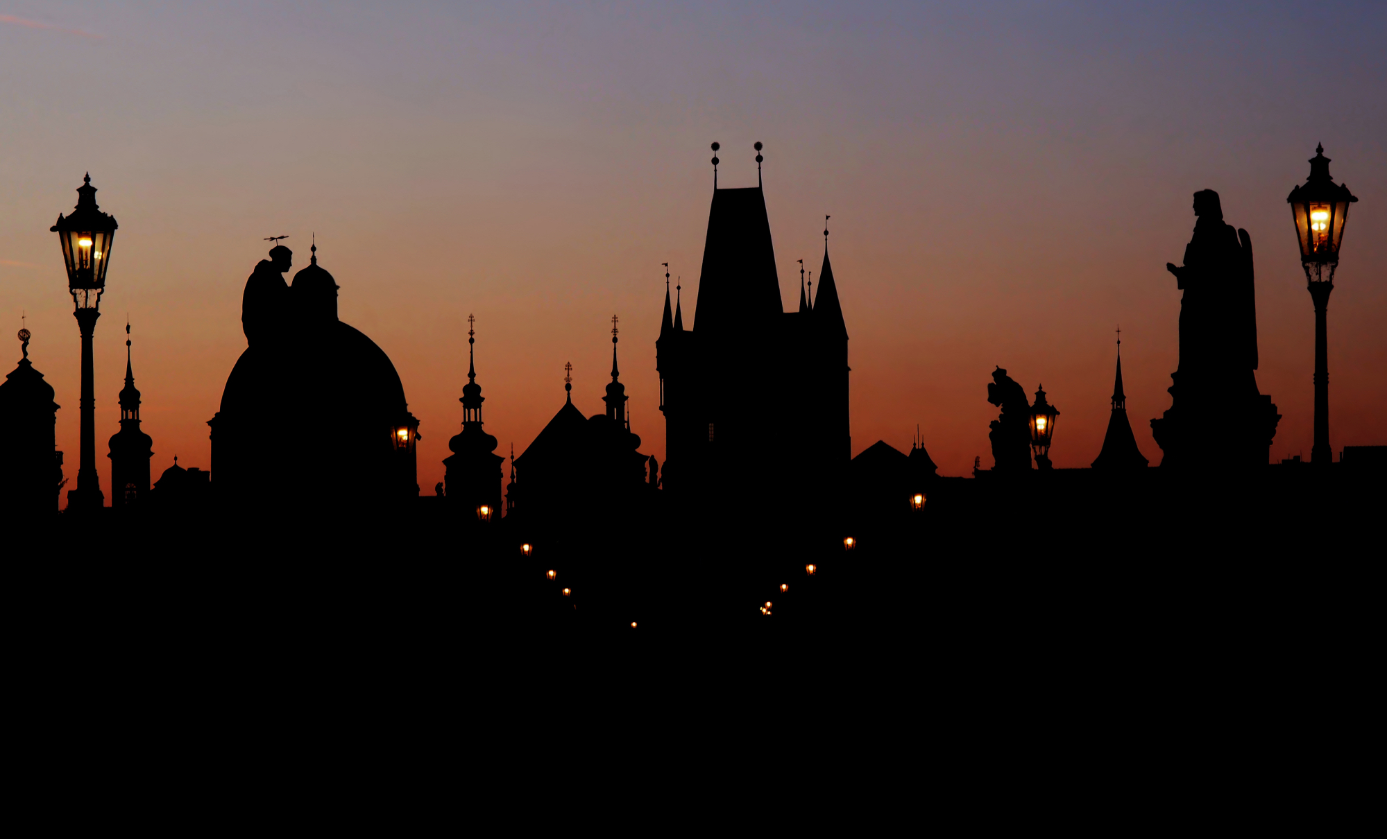 Prague Skyline at dawn