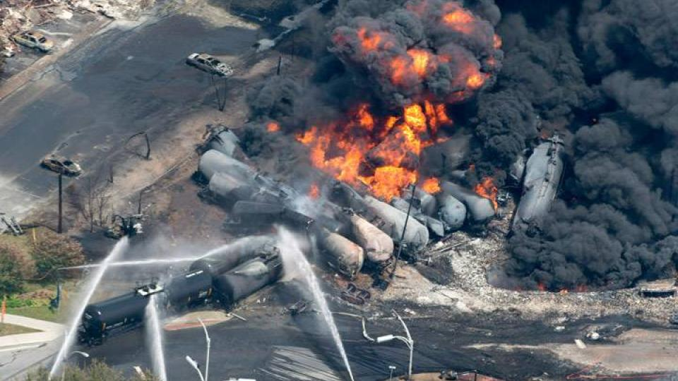 Lac-Megantic. Photo Courtecy of Global News, Canada