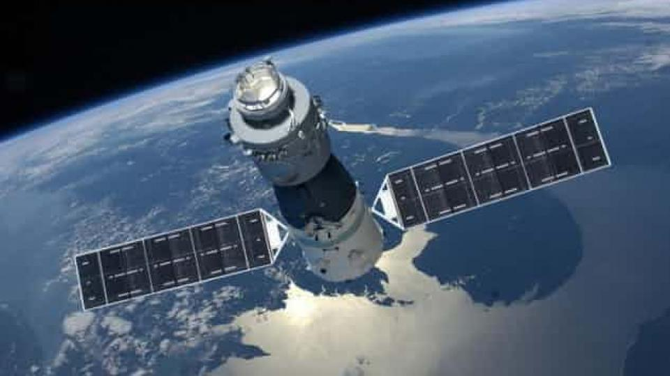The Tiangong-1 space station has been hopelessly adrift since the Chinese space agency lost control of the prototype lab in 2016. Photograph: Courtesy of CMSE