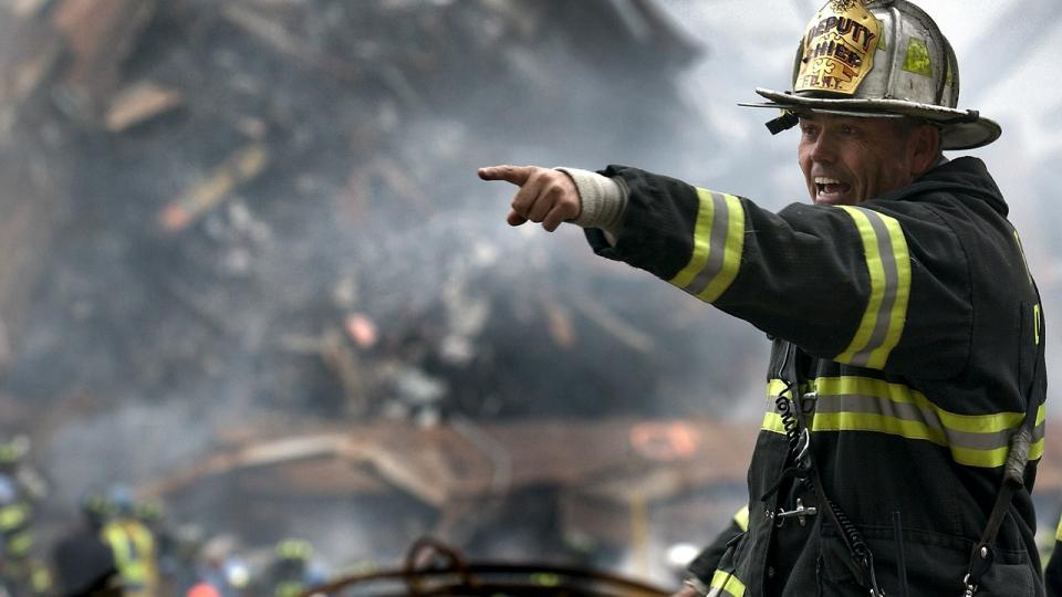 A firefighter during the aftermaths of the WTC attack. Photo: Pixabay.com