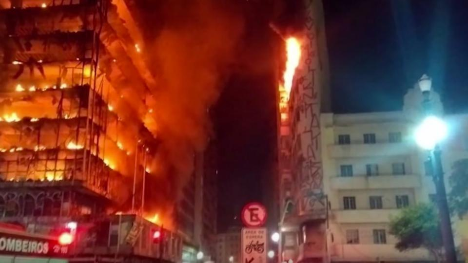 San Paulo highrise fire