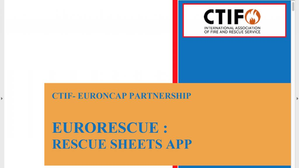Header screen shot from the document on how to use the EuroRescue app