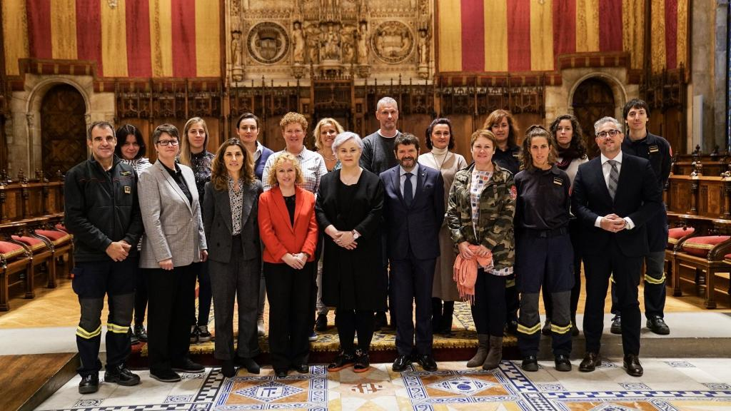 Group photo from the CTIF Women in Fire & Rescue Commission Meeting in Vienna, 2019.