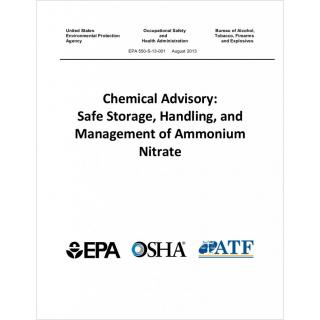Chemical advisory: safe storage, handling, and management of ammonium nitrate